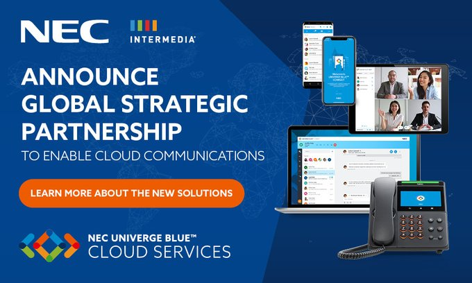 NEC and Intermedia Announce Strategic Global Partnership to Deliver Cloud Communications, Collaboration, and Contact Center Solutions