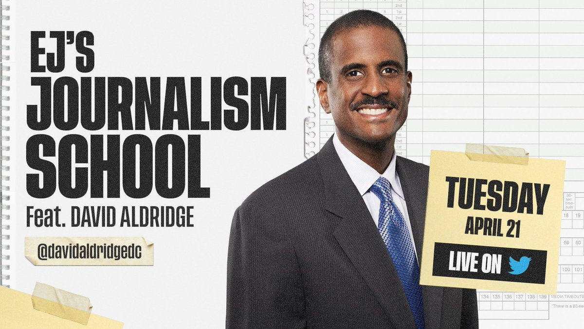 A hall of famer has the floor today ar the j school.... @davidaldridgedc takes your questions Live at 2ET