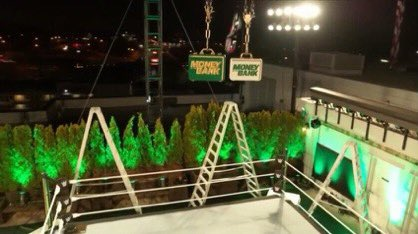 Leaked Photos Of WWE's Money In The Bank Setup On The Roof Of WWE HQ