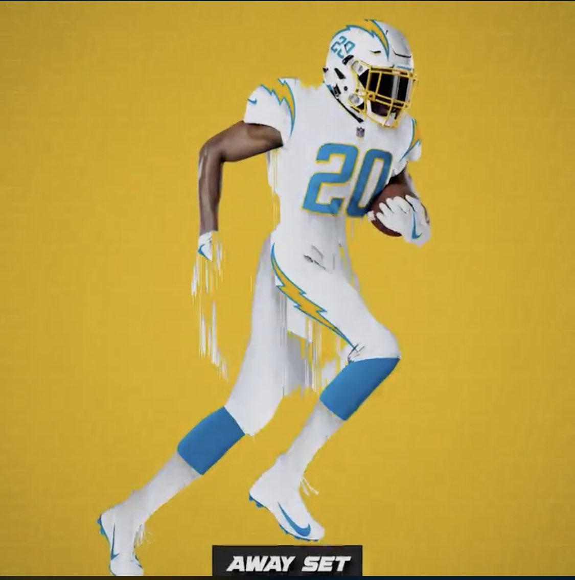 The Chargers reveal their new uniforms. https://t.co/FwZRB2yGzu