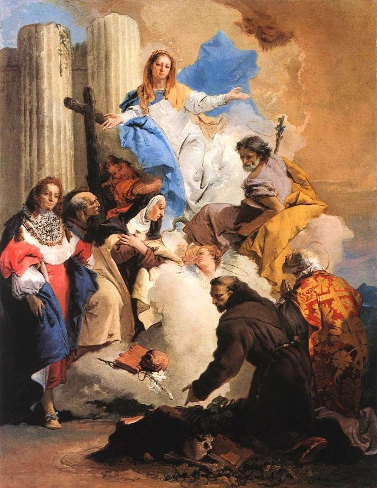 Virgem Maria com os santos
