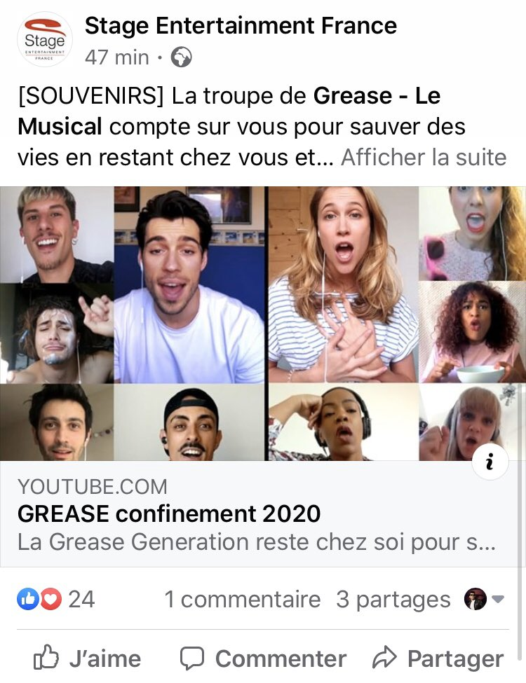 Merci @StageFrance @StageEntertain ! Grease is still the word!  #mogador #comediemusicale #ConfinementCreatif #stageentertainment #grease #rydellhighschool #quarantena @GoGrease @RandalKleiser @greaselemusical<br>http://pic.twitter.com/pJyBCTQXNc