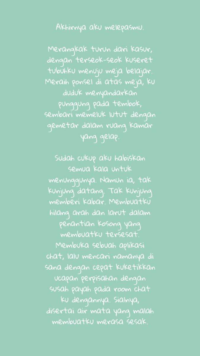 Hmm.. :))  *Pernah save kata² ini, diambil dari line.. * cc tertera. #puisimalam #poem #puisi #akumenyerah #pasrah #fromtulisanmembiru #repost #melepasmu #melepaskan