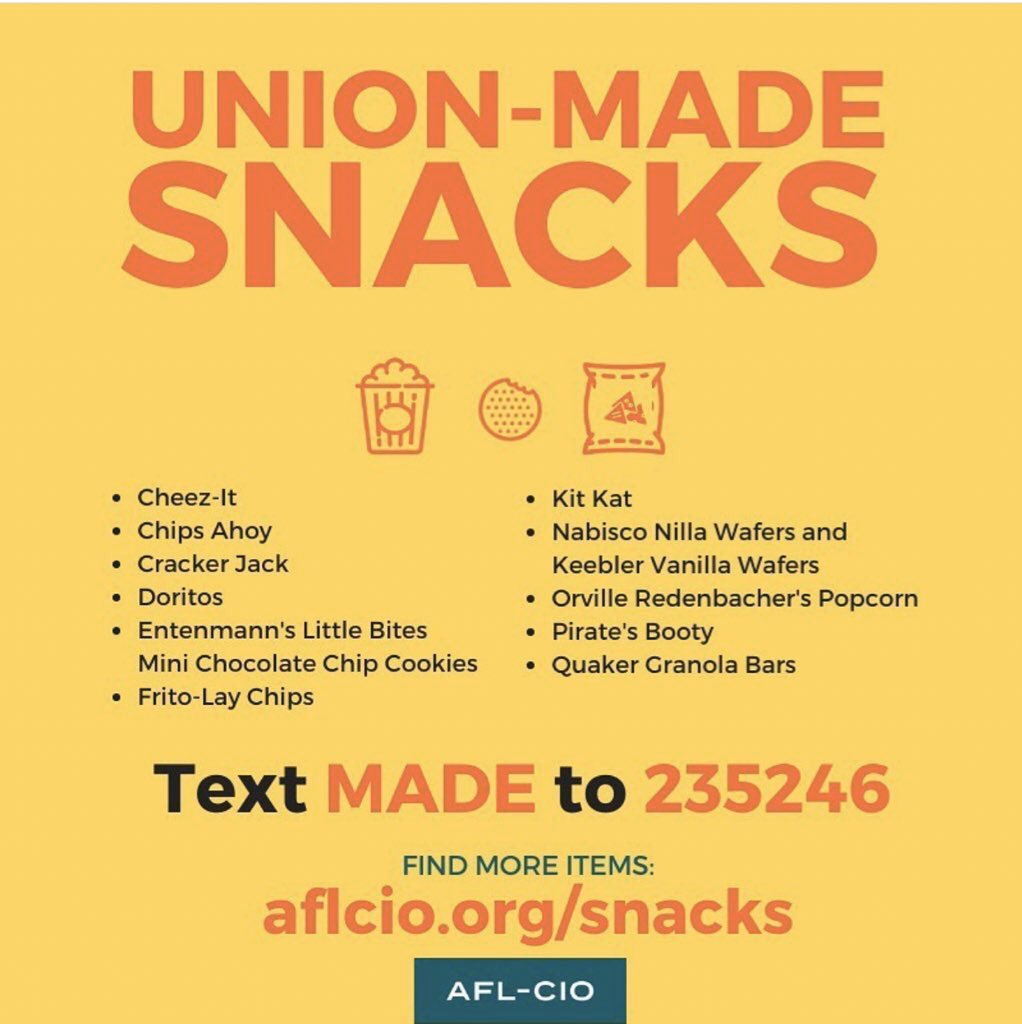 #Quarantine isn't complete without a union-made snack. Do you have yours?