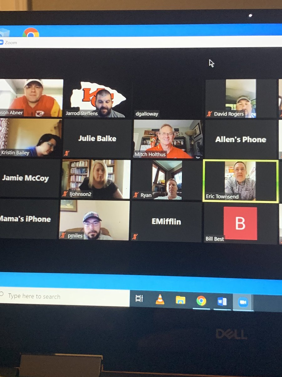 When Mitch Holthus joins your faculty Zoom Meeting!  @ClintonMoCards @ChiefsPR @ChiefsPR https://t.co/IvHwRLvbjS
