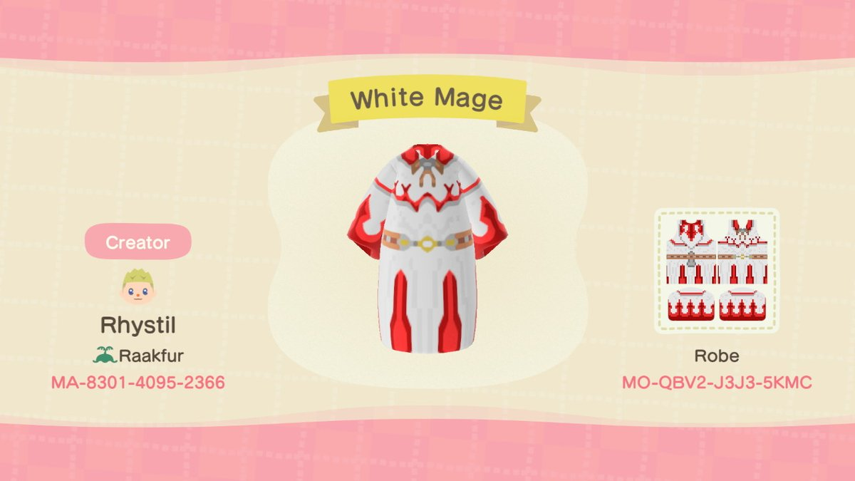 Rhystil Shadowhelm On Twitter White Mage S Robes From Final Fantasy Xiv Finalfantasy Ffxiv Whitemage Squareenix Animalcrossing Acnh Nintendoswitch Https T Co Py0q6ykwqk