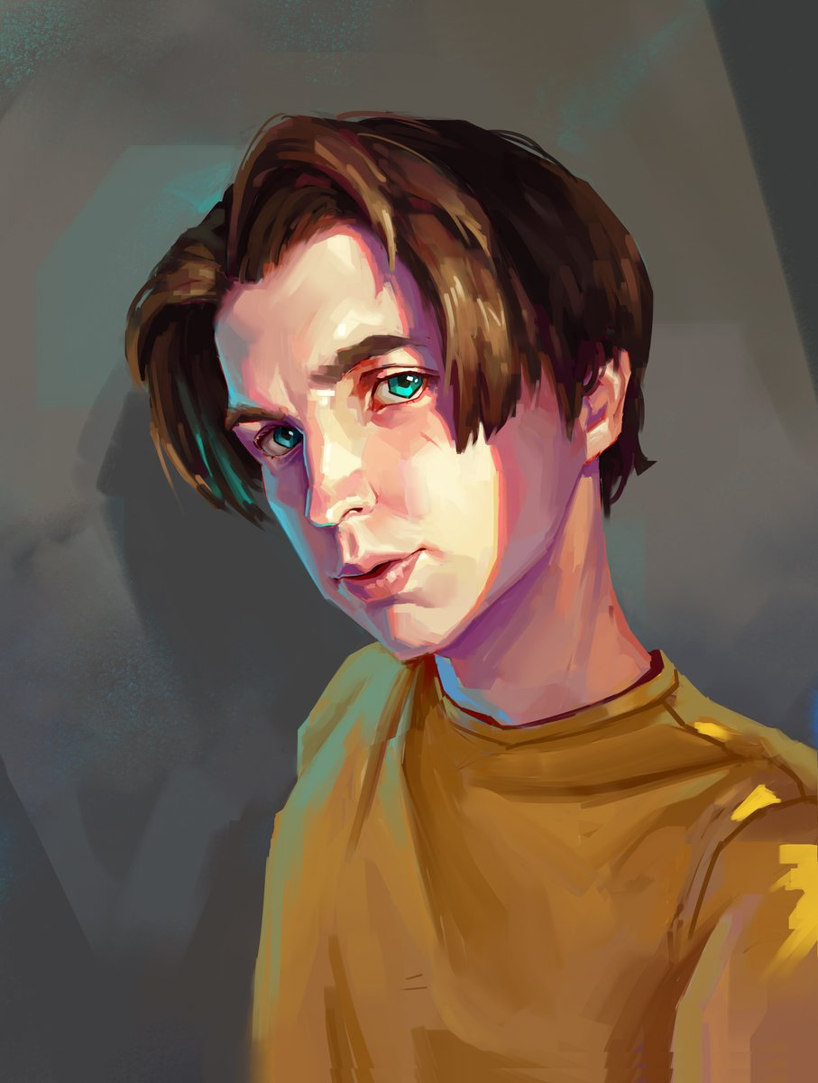 First self portrait in 3 years :3  #selfportrait #study #facestudy #digitalpainting #photoshop #huion #colors #colorfulpic.twitter.com/PazoUs4Vmc