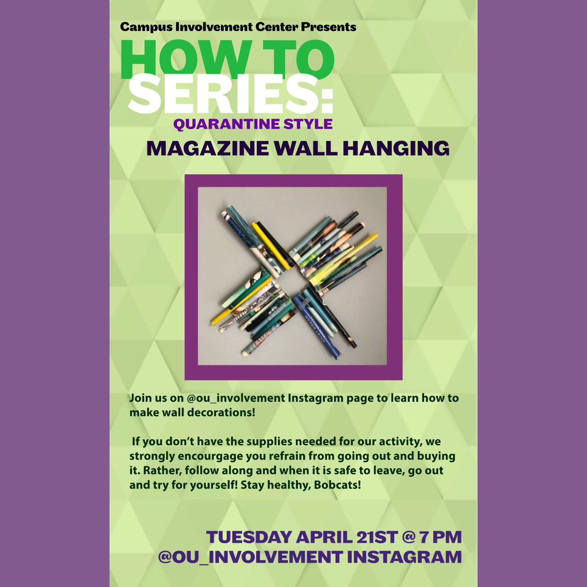 How To Tuesday is tonight! Check our instagram story at 7pm tonight for info on how to make magazine wall hangings! https://t.co/L5Ucq4y4Kh
