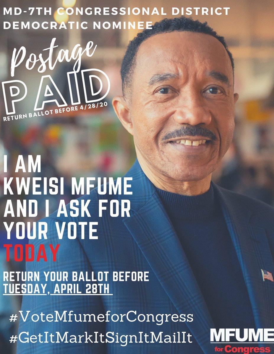 """Kweisi Mfume on Twitter: """"I am Kweisi Mfume, MD-7th Democratic ..."""