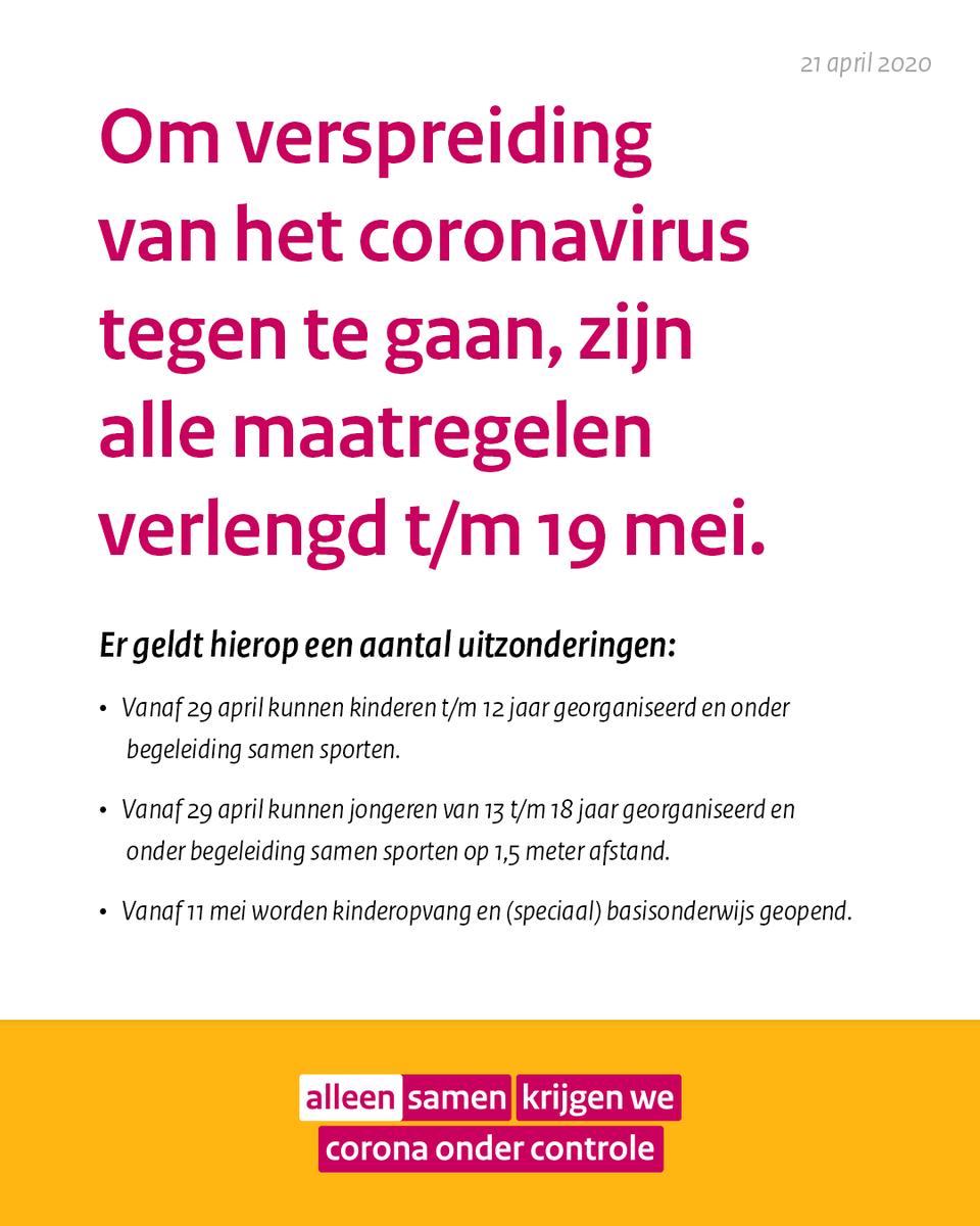Veiligheidsregio Fryslan On Twitter We Gaan Samen Door Met De Corona Aanpak In Nederland Alle Maatregelen Die De Deskundigen Ons Adviseren Worden Verlengd Wel Komt Er Voorzichtig Meer Ruimte Voor Kinderen En Jongeren