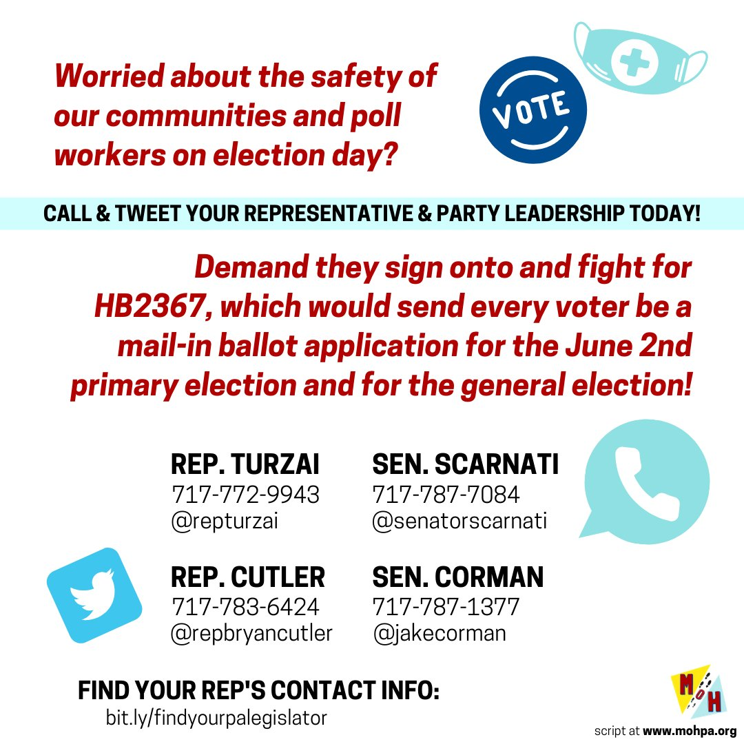 This week's Call to Action! #VoteByMailSaves