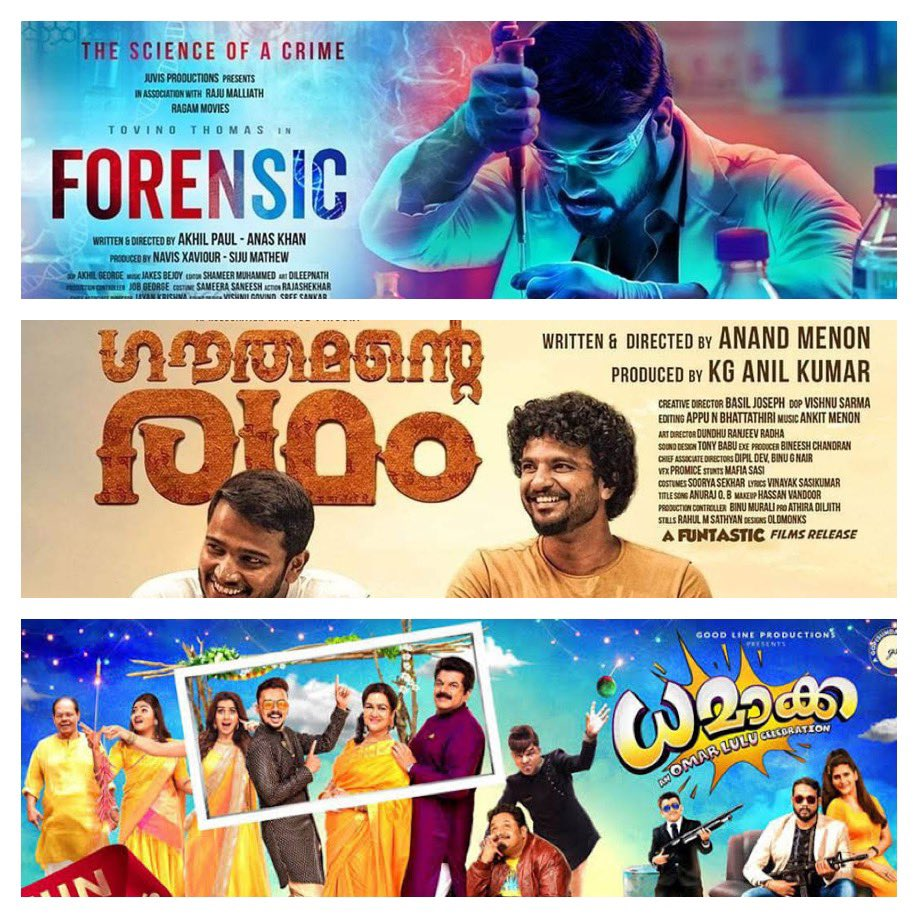 Christopher Kanagaraj On Twitter Upcoming Malayalam Films In Amazon Prime Forensic Gauthamanteradham Dhamaka