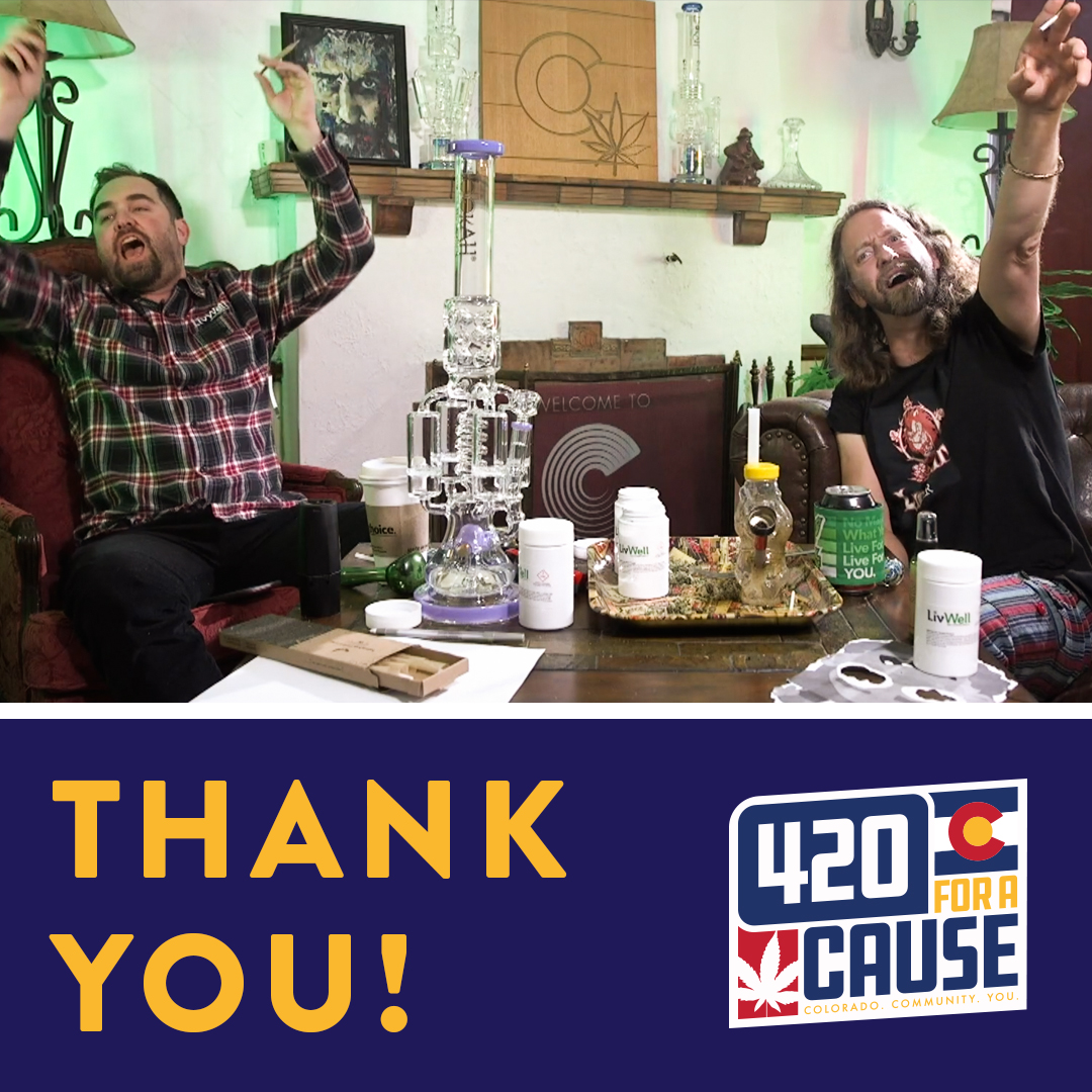 BIG thank you to everyone who tuned in and donated yesterday during 420 for a cause! Didn't get a chance to donate yesterday? No problem! You can still head over to https://t.co/ypOKec2st6 and donate to the charity of your choice. See link in bio. #420foracause https://t.co/yLF00vvf7I