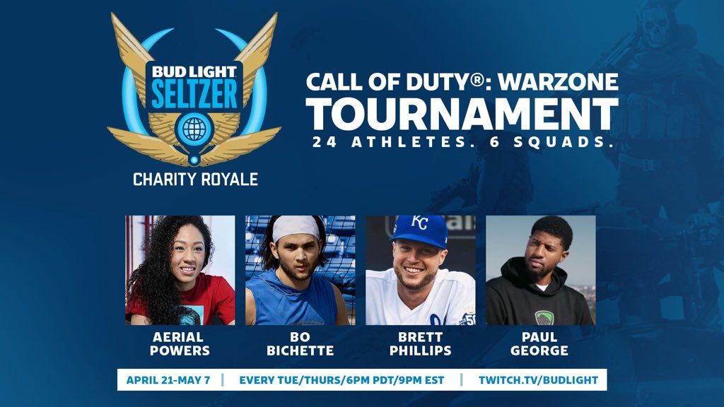 Check out our very own @Yg_Trece competing in the Bud Light Seltzer Charity Royale starting at 6pm PT!  📺:https://t.co/UBZrO0Giuy  #SeltzerRoyale https://t.co/x8kJivyNRl