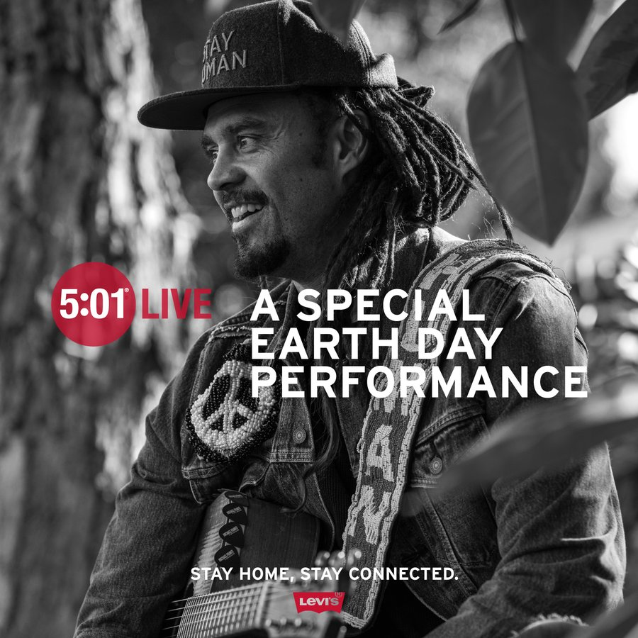 Tomorrow marks the 50th anniversary of #EarthDay 🌎 Celebrate with @michaelfranti at 12pm PT / 3pm ET on Apr. 22 for @levis 5:01 LIVE at https://t.co/8MENUIZ3DZ Then tune into the live screening of his #StayHuman Film on @youtube at 5pm PT! #LiveFromHome #TogetherApart https://t.co/EyHyyJRmaA