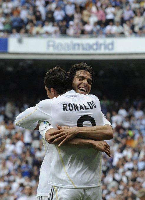 Happy Birthday to Cristiano Ronaldo s ex-team mate Ricardo Kaka who turns 38 today!  What a duo!