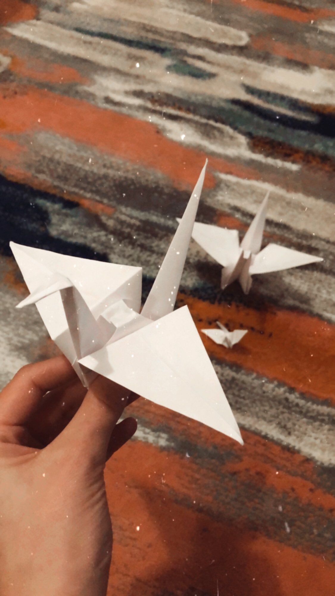 Here Are Some Of The Paper Cranes We