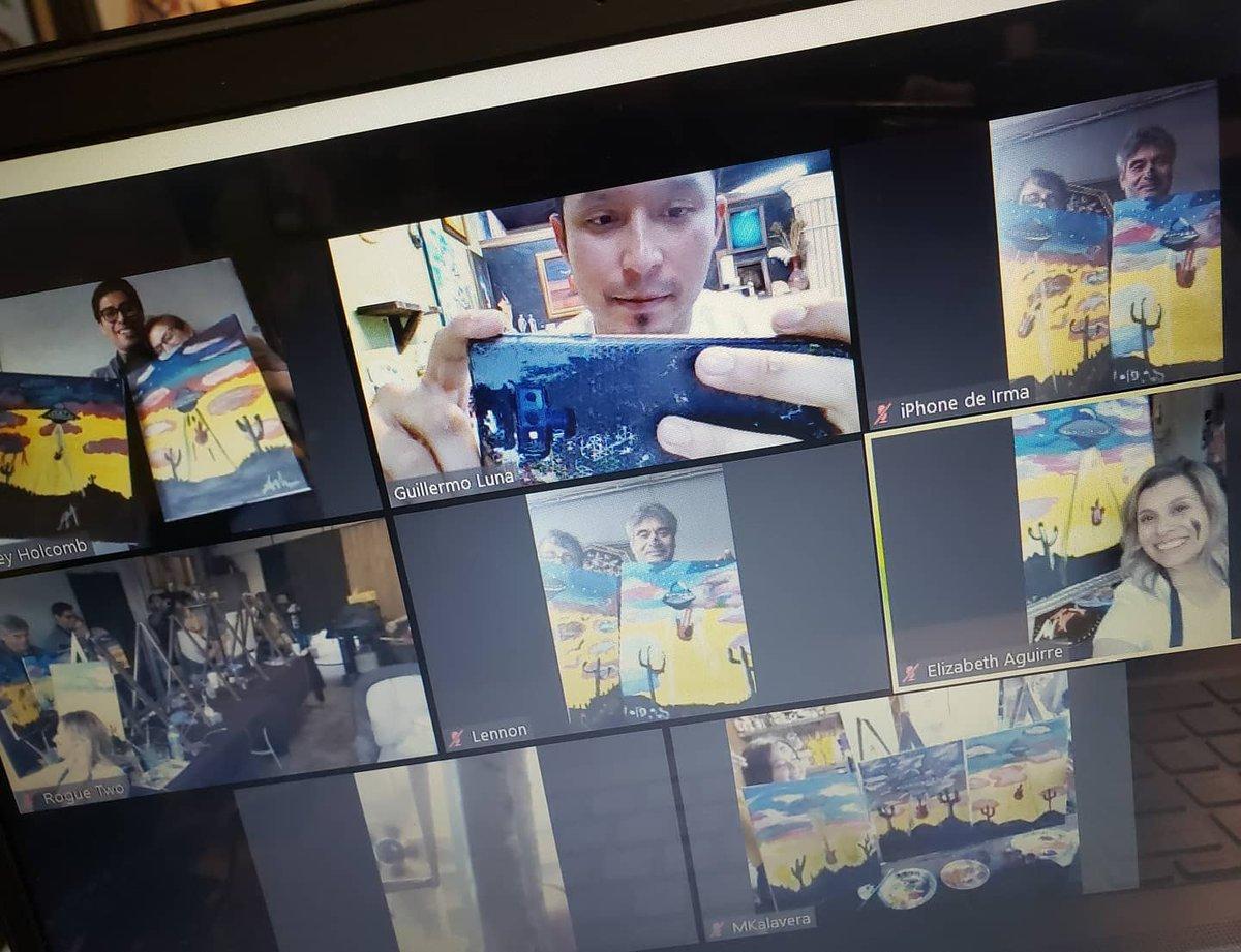 Memos Canvas On Twitter Quarantine Paint Party Webcam