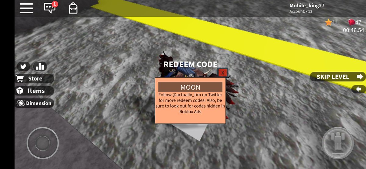 How To Get Moon Dimensions New Code In Speed Run 4 Roblox 2019 Roblox Codes 360minecraftgod Twitter
