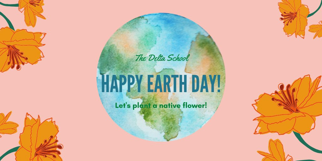 Happy Earth Day! Join our students in planting a native flower!!  #earthday #tds #discoverdelta #schoolgarden #visitwilson https://t.co/DWgFrvFMn0