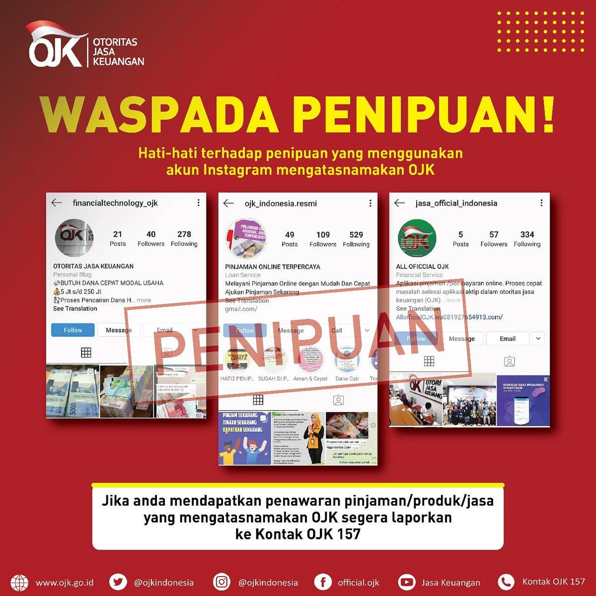 Ojk Indonesia On Twitter Sobat Ojk Hati Hati Terhadap Akun
