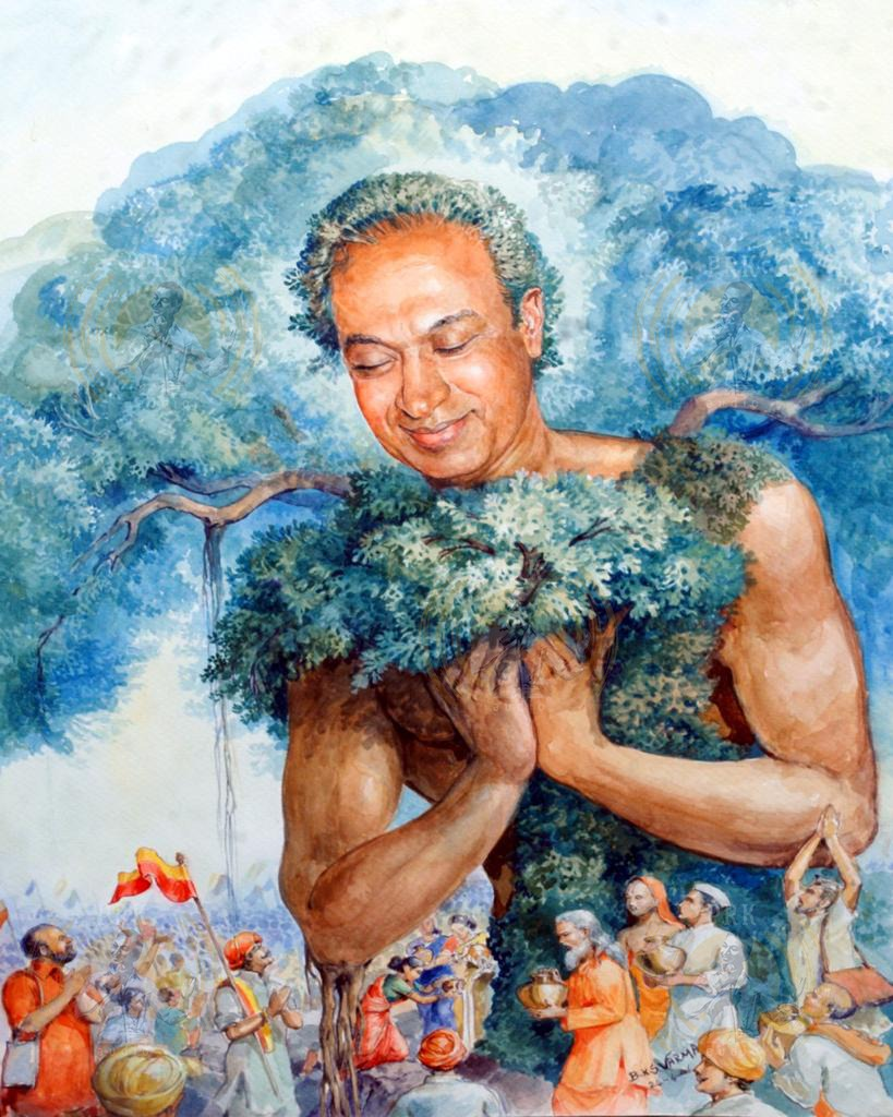 Today is #WorldEarthDaY. If we take care of our home (earth), it will take care of us.  #StayHomeStaySafe.  Painting by Dr. B.K.S. Varma