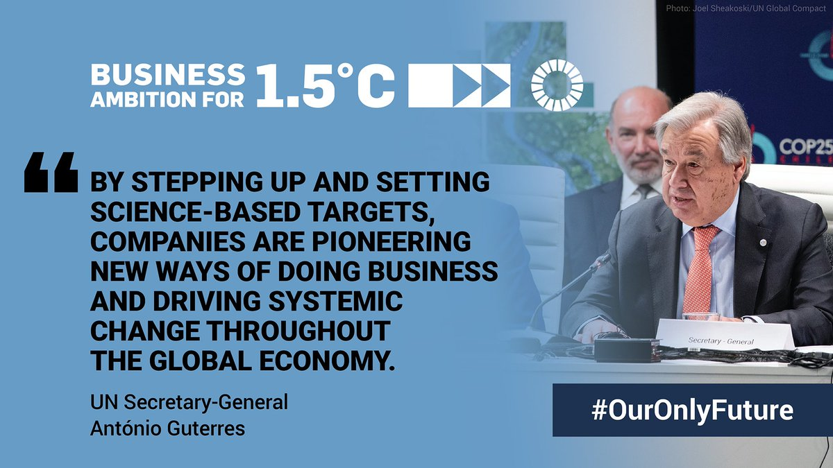 This #EarthDay, amidst disruption & uncertainty, we want to congratulate the hundreds of leading businesses committing to set climate targets in line with limiting global warming to 1.5°C, paving the way to a net-zero future: https://t.co/reTWR8pH23 #OurOnlyFuture @UNGC https://t.co/HigmSUDUrg
