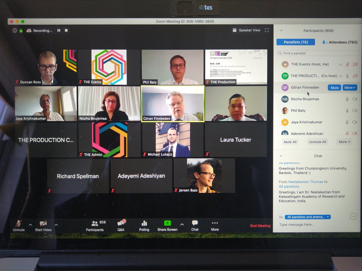 Wonderful to see great speakers now going live to 835 people from around the world and growing as we discuss if SDGs can provide a new measure of innovation? #THEglobalimpact