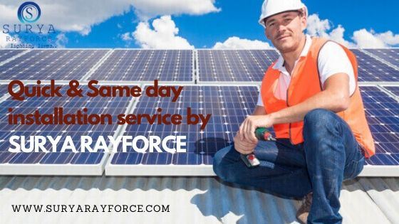 #SuryaRayforce #trainedtechnicians is an expert in handling the #installation of all types of #solarpanel. The sun gives us significantly more energy that people can use at home and workplaces as well. Book a #solarpanelinstallation date with us.  https://www.suryarayforce.com/pic.twitter.com/6FXx8sJyQ2