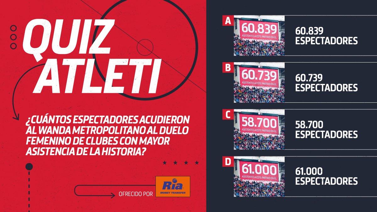 [❓🧐] #QuizAtleti   ¿Lo recordáis, atléticos? 😊  🏟 Wanda @Metropolitano  ⚽ @AtletiFemenino   🔴⚪ #AúpaAtleti 🏠#QuédateEnCasa https://t.co/8LlOt1ZgJA