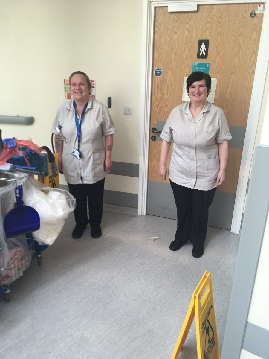 Working tirelessly behind the scenes to maintain strict levels of infection prevention during #coronavirus are our amazing cleaning staff. Working extremely hard and always with a smile on their faces they are critical partners in our NHS team #OneTeam @MusgrovePark @SomersetFT