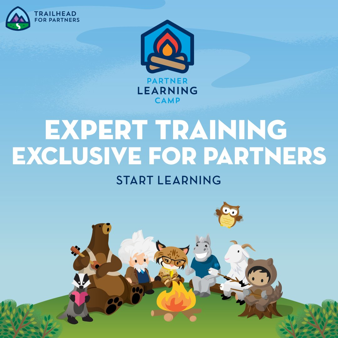 """Salesforce Partners on Twitter: """"🧠Build your Salesforce brainpower! Partner  Learning Camp is the place for always-on learning wherever and whenever.  https://t.co/UbYX8MEgmY… https://t.co/i8GExoJeWV"""""""
