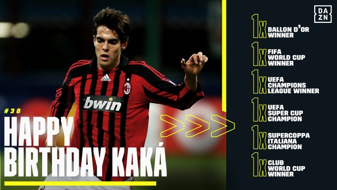 Happy Birthday to a legend of the game and an inspiration to young players everywhere Kaká!