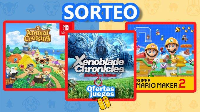 Sorteamos uno de estos juegos para Switch a escoger:  🔹Animal Crossing 🔹Xenoblade Chronicles 🔹Mario Maker 2  Para participar: 🔸RT 🔸Comenta qué juego elegirías mencionando a tres amigos 🔸Síguenos en Telegram OfertasJuegos Nintendo https://t.co/qGlidy4pVJ https://t.co/alcWLFafR6