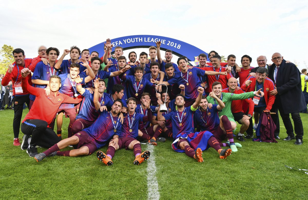 How @FCBmasia celebrated their second #UYL triumph after beating @ChelseaFC on this day in 2018🏆🏆 https://t.co/jHG3O07BF7