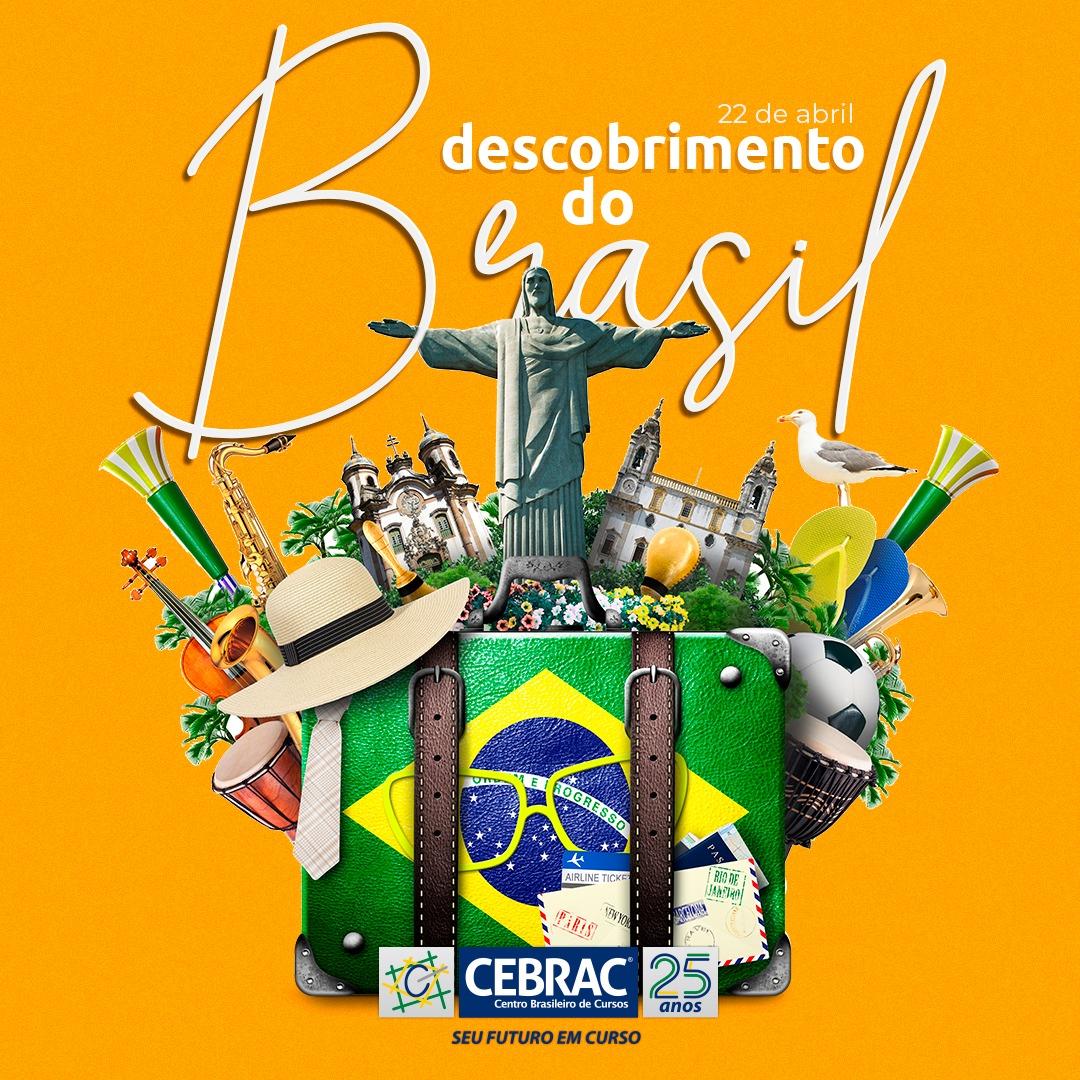 O #Descobrimento do Brasil é uma data que marca a chegada dos navegadores portugueses ao Brasil no ano de 1500, que foi acidentalmente descoberto em 22 de abril pela frota do navegador português Pedro Álvares Cabral. 🇧🇷 #DescobrimetoDoBrasil #Cebrac #Edtech https://t.co/Rcfg1DruVf