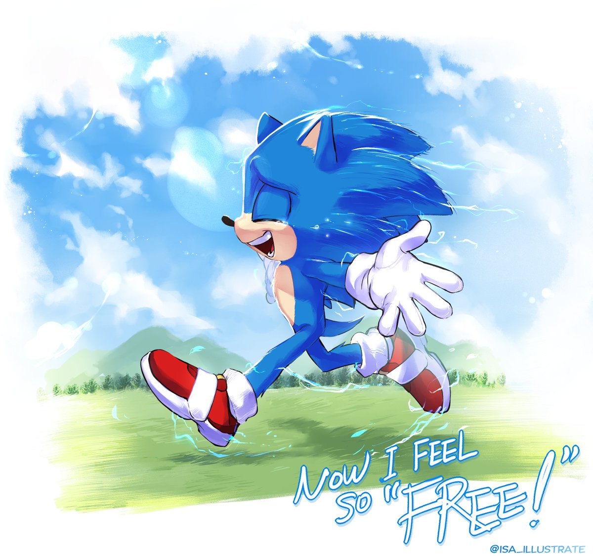 이사𝗜𝘀𝗮 On Twitter I Redrew My Old Movie Sonic Fan Art I Was So Stressed Out So I Thought I Need Some Rest And Today Morning 7am I Came Out For A Bit Of