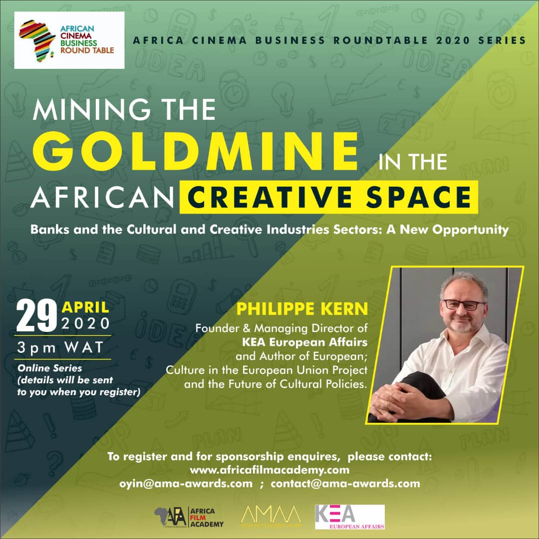 💵Financing #CCS projects and access to #funding has been a long standing challenge for both bankers and creatives in #Africa. 📅KEA will help address this major topic during the webinar organised by Africa Film Academy on 29 April. Info and registration ➡https://t.co/N5K9boPXnN https://t.co/Eul9BRqExZ