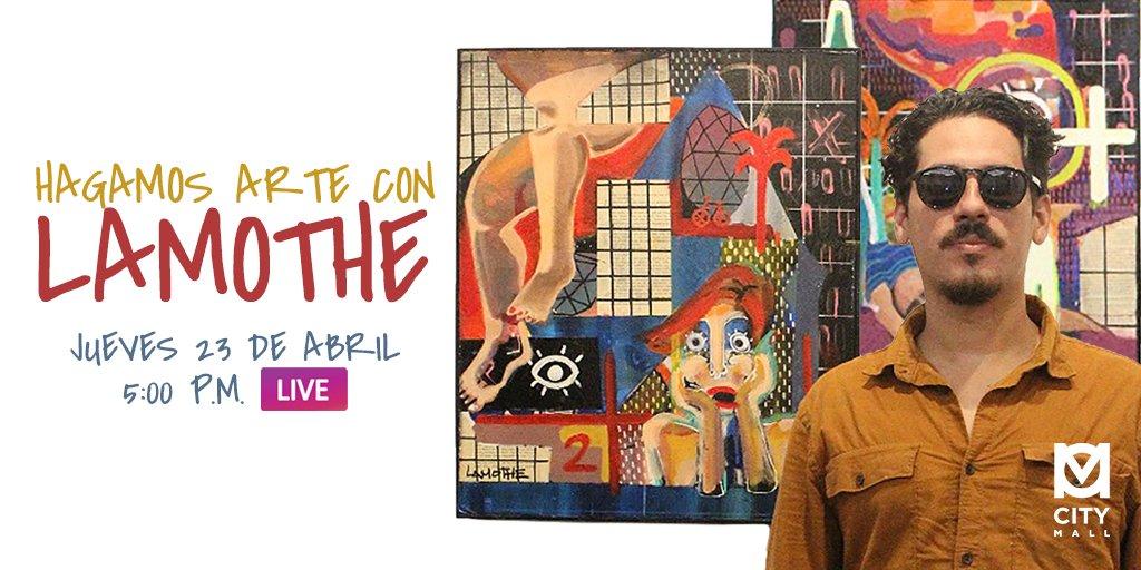 Saca a tu artista interior con Lamothe 👨🎨. City Mall apoya el arte y talento hondureño. La cuarentena no nos detiene. 💙 #TalentoCuarentena #CityMallHND #CAM https://t.co/NVqfVIzIVL
