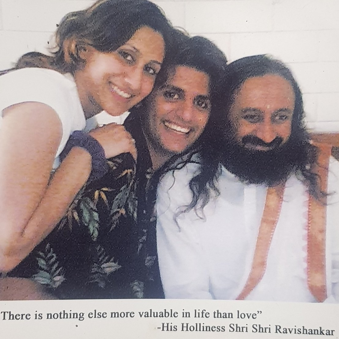 "Came across this beautiful picture of #guruji @SriSri was taken during my wedding in #banglore ashram year 2006 ""There is nothing else more valuable in life, than love"" simple truth of life which is called the #artofliving, not just the organisation.But the actual ART of living. https://t.co/Ea5ZIUuwHh"