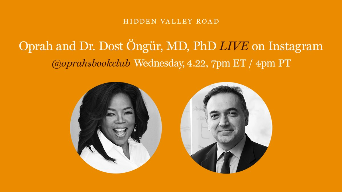 """As we continue reading """"Hidden Valley Road,"""" one thing is clear — there are many myths and misconceptions about schizophrenia. @oprah is going LIVE tonight on Instagram with Dr. @dost_ongur. This is your chance to ask an expert: instagram.com/oprahsbookclub #ReadWithUs"""