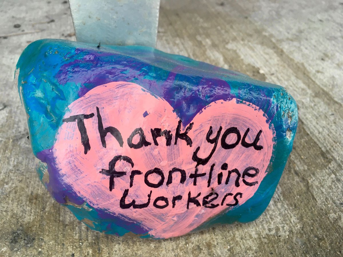 test Twitter Media - Our staff rock! Get it? Pictured below are some colourful messages left outside Providence Care Hospital by an anonymous artist. We're fortunate to have such a wonderful #community who continue to show their encouragement & support during #COVID19. #ygk https://t.co/GjcV7P1XsU