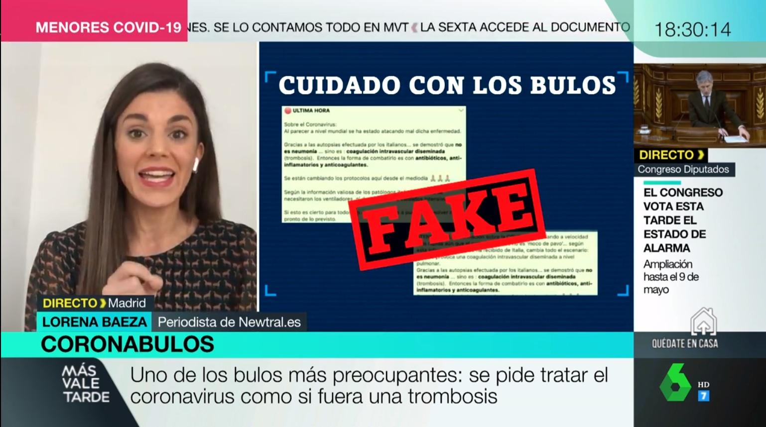 "Newtral Twitterissä: ""Nuestra compañera @Lore_Baeza está en ..."