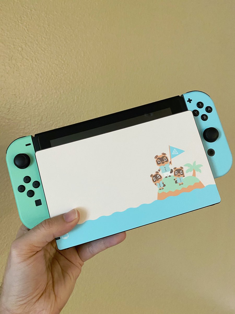 Kevin Kenson On Twitter Just Got This Skin In From Dbrand To Compare To The Animal Crossing Switch And Uh Yeah Those Colors Are Spot On