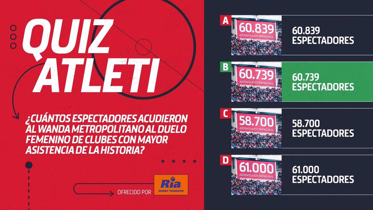 [❓🧐] #QuizAtleti   👏 6⃣0⃣.7⃣3⃣9⃣ aficionados acudieron al Wanda @Metropolitano para presenciar el duelo del @AtletiFemenino frente al FC Barcelona.  ¡Es el récord de asistencia a un partido de clubes de fútbol femenino! 👊  🔴⚪ #AúpaAtleti 🏠#QuédateEnCasa https://t.co/RXcXpdaf8y