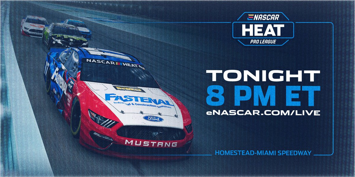 The eNASCAR Heat Pro League is back for a second season, and the action gets kicked off tonight at 7:00 pm CT! Tune into eNASCAR.com/live to watch all the action from virtual Homestead-Miami Speedway!