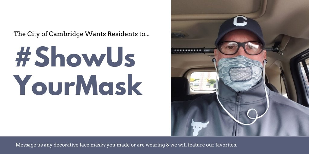 Are you checking all the boxes?   ⏹️Frequently washing your hands  ⏹️Not touching your face in public ⏹️Staying 6 feet from others if outside  ⏹️Staying away from people who are ill ⏹️Wearing a face mask or covering whenever outside   #ShowUsYourMask #CambMA https://t.co/8JuLXcr6K4