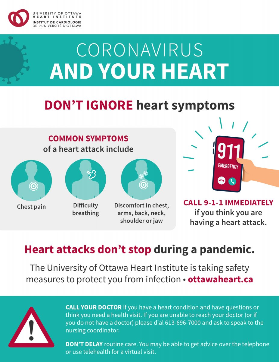 """Thais Coutinho on Twitter: """"@ottawacity friends: please share widely.  Please do not #stayhome if you think you are having a heart attack! The  @HeartInstitute is here to help you and we continue"""