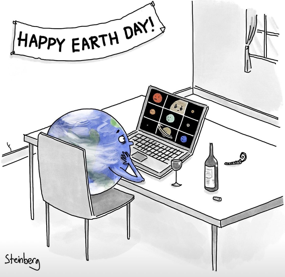 Happy #EarthDay! Today's clever cartoon from @NewYorker