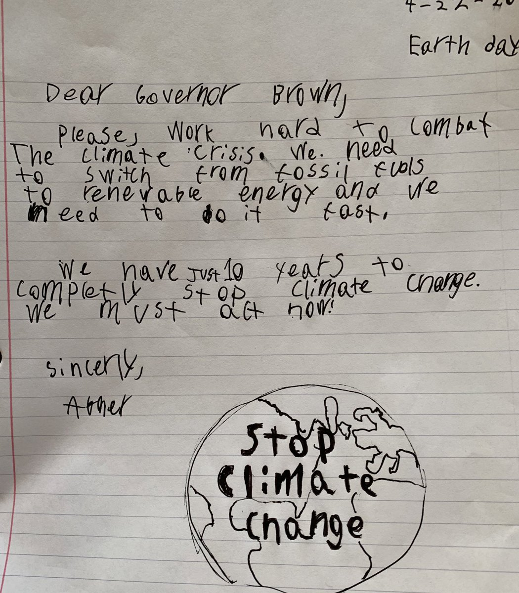 Happy Earth Day @OregonGovBrown! Letter 131 #EarthDay2020 #EarthDayAtHome #EarthDay